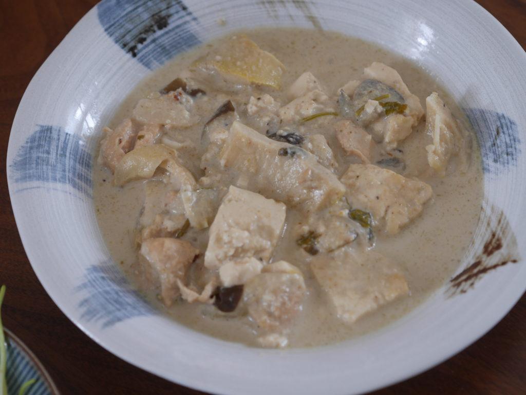 ココナッツミルクの代用で作ったグリーンカレー